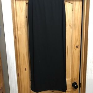 Black stretchy skirt with side splits